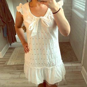 Fun and flirty white dress